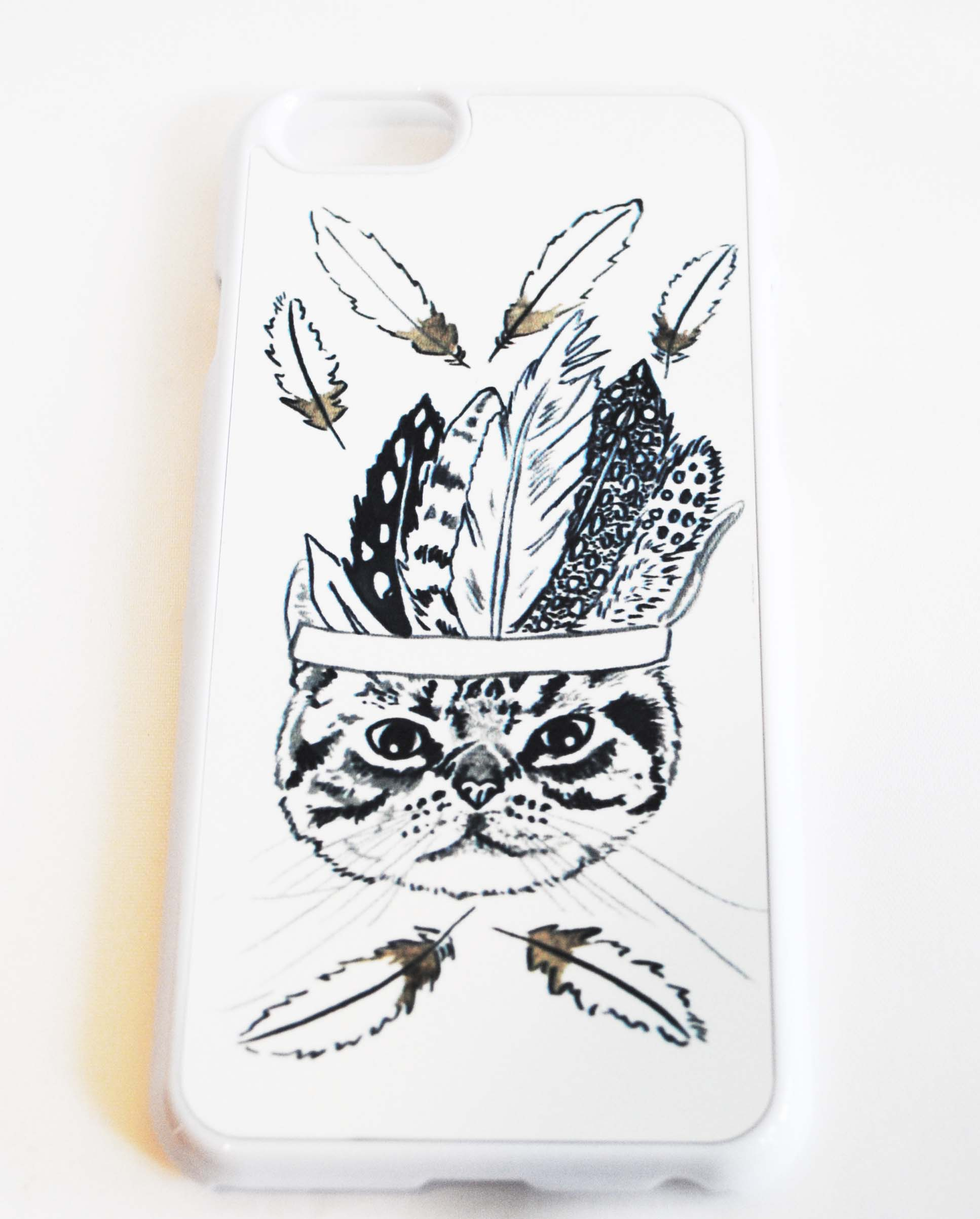 Tribal Kitty iphone case