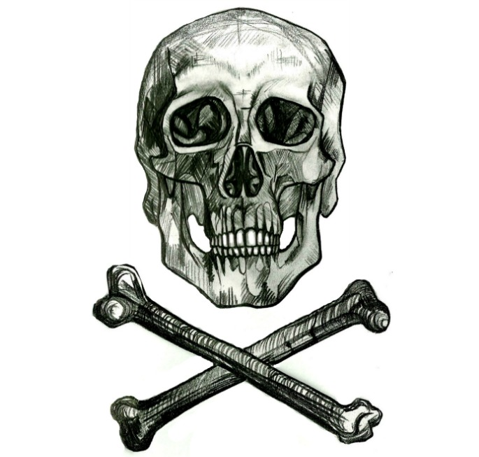skull and crossbones square