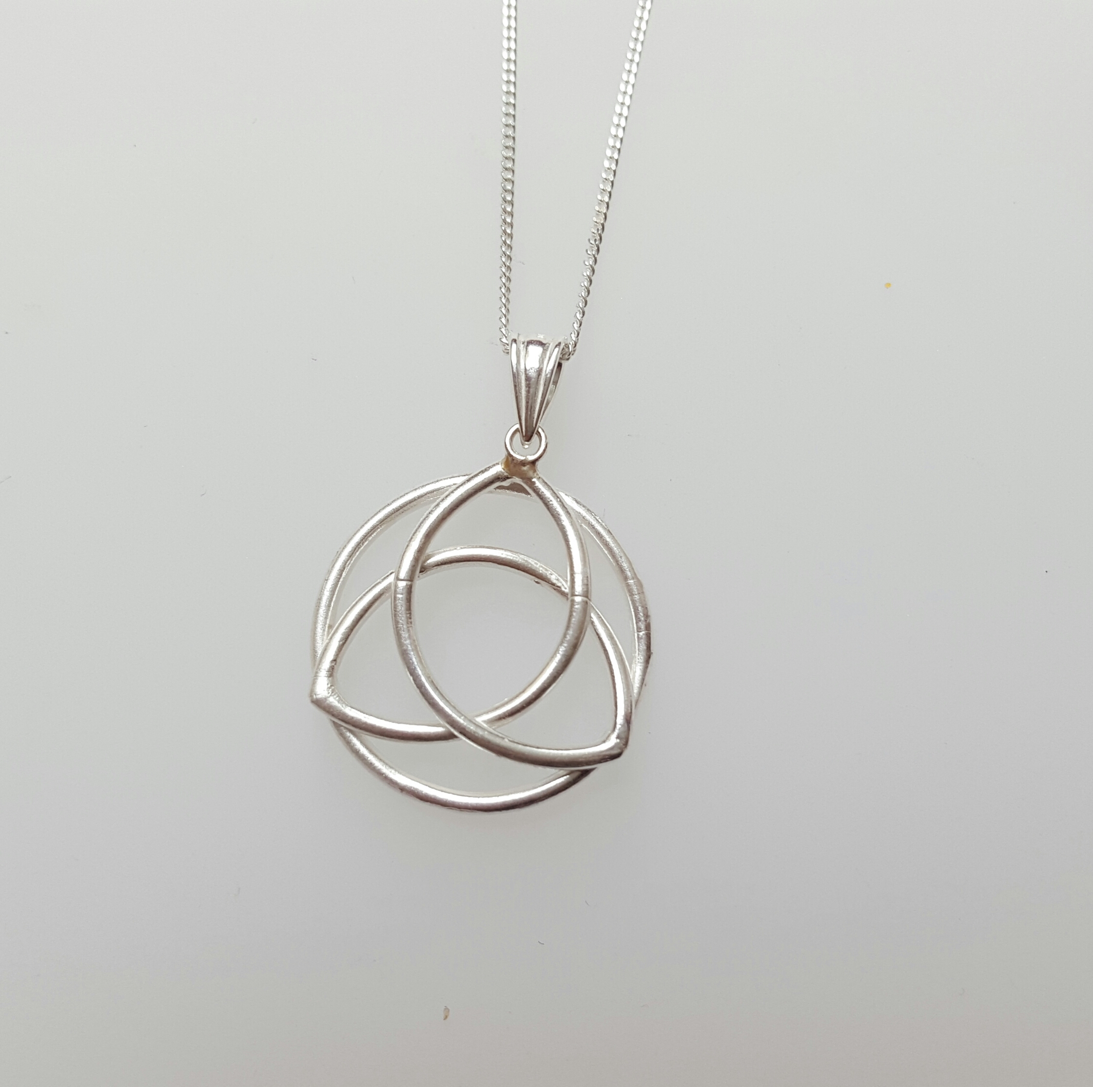 Triquetra Silver Necklace