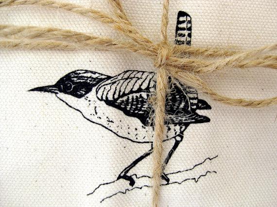 wren tea towel
