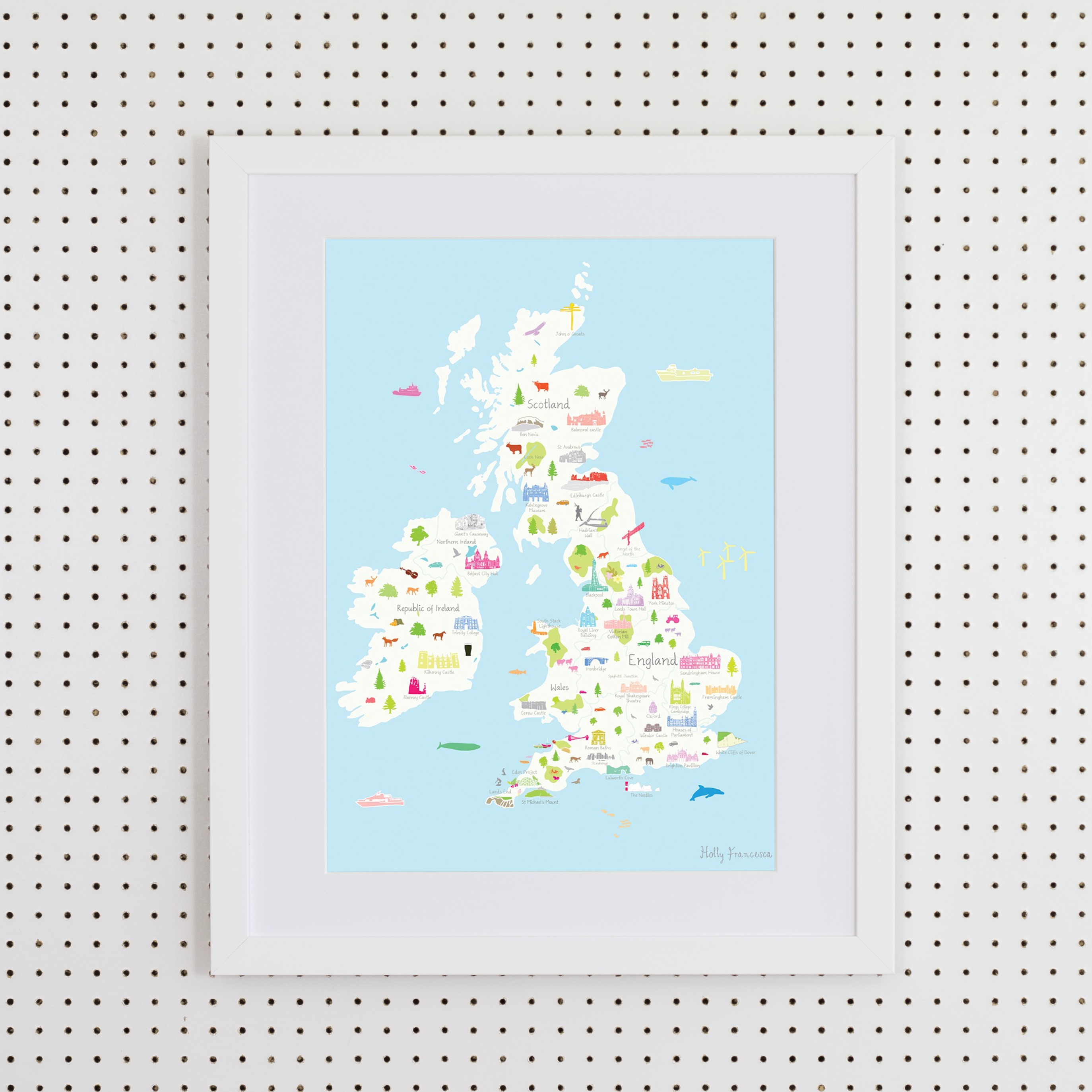 UK Map in Frames