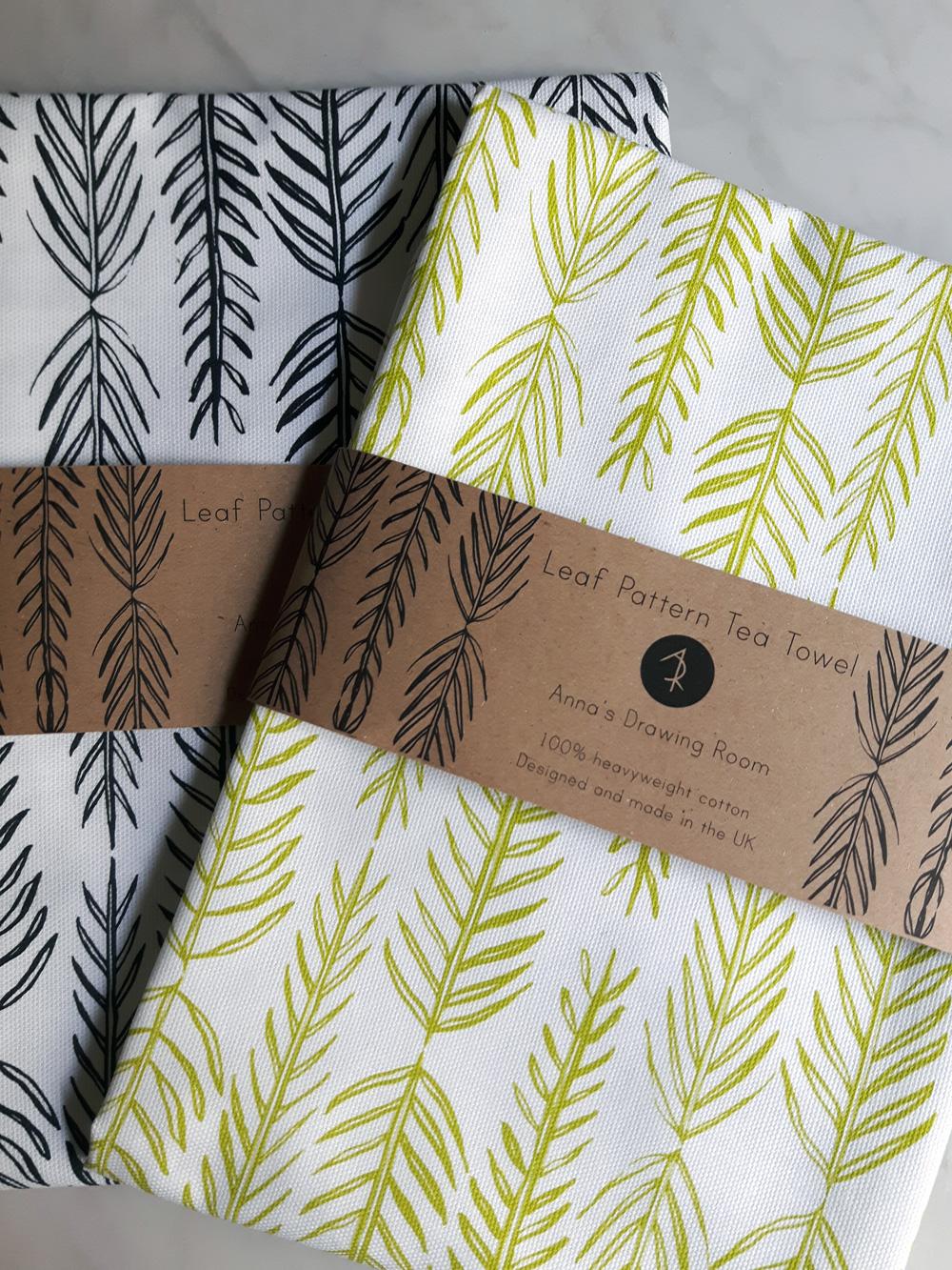 Leaf-pattern-Tea-towels-both-packaged