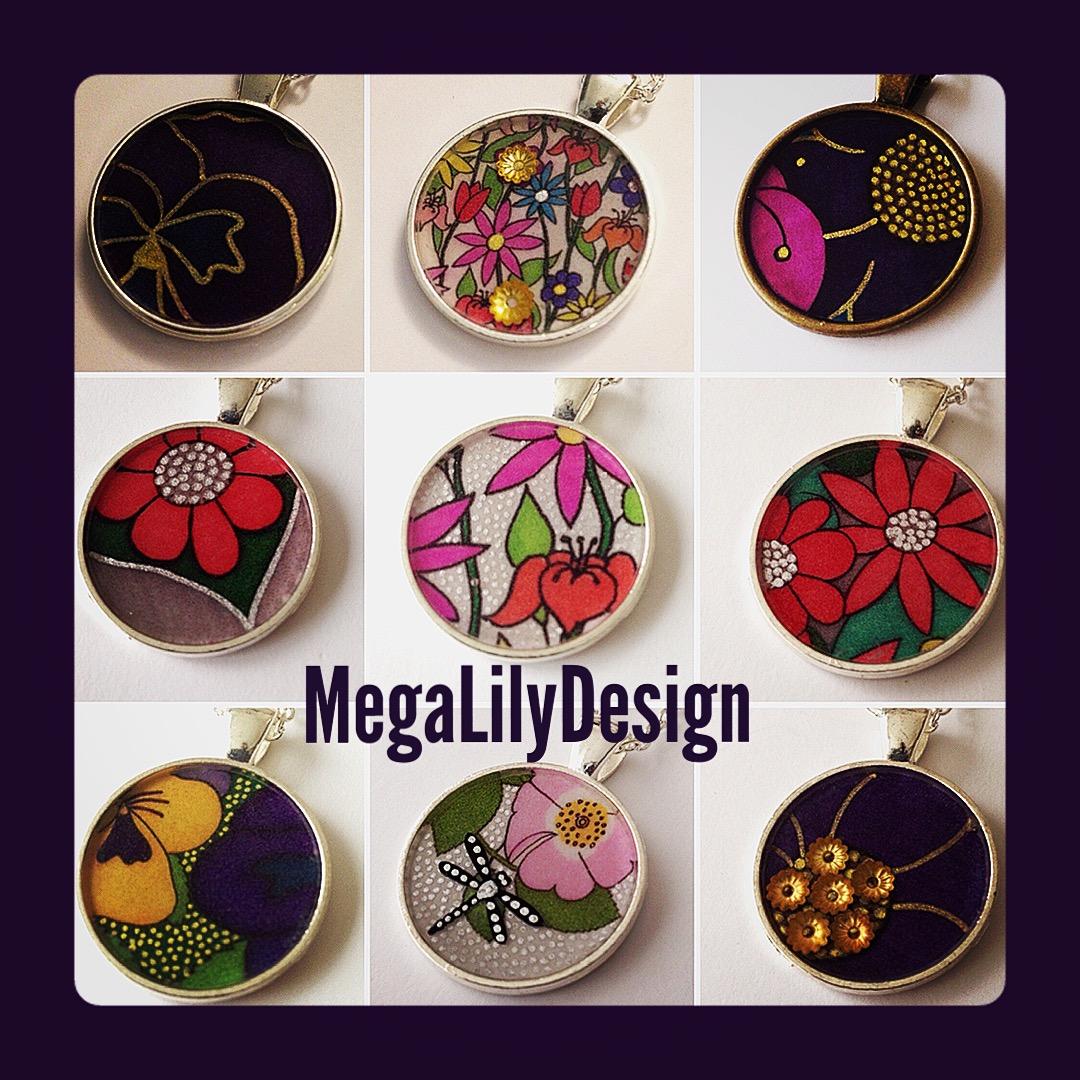 MegaLilyDesign Round Pendants
