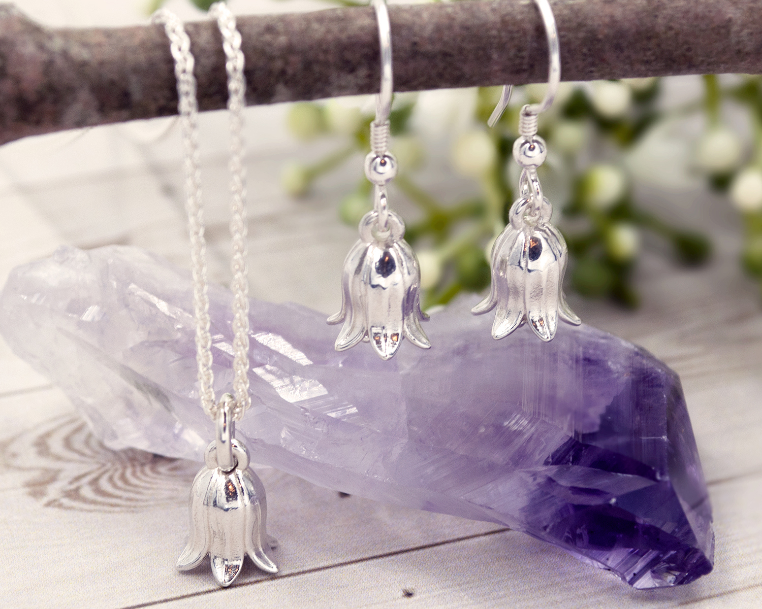 bluebell necklace - Jade silver designs jewellery