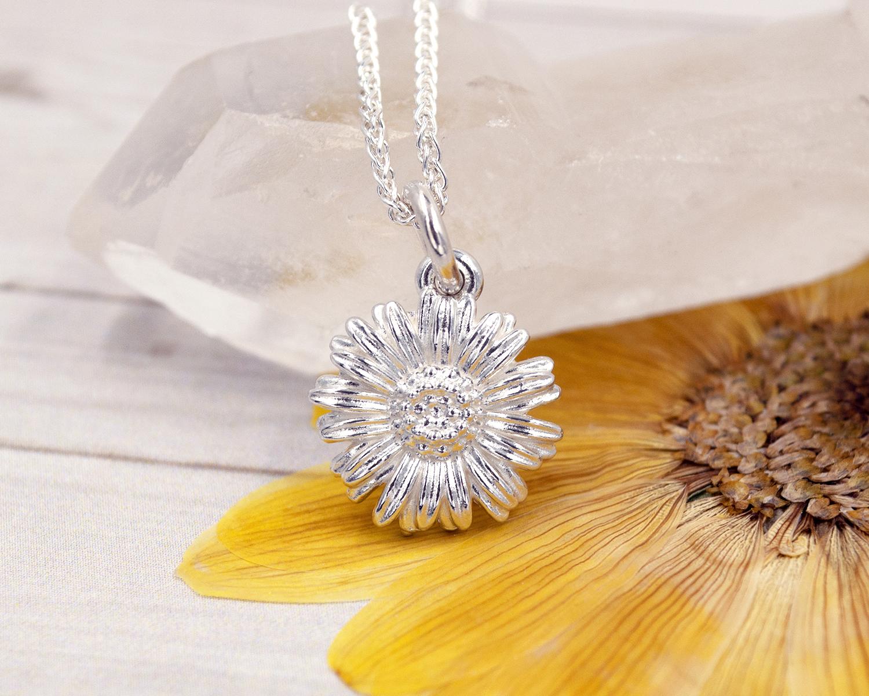 daisy necklace - Jade silver designs jewellery