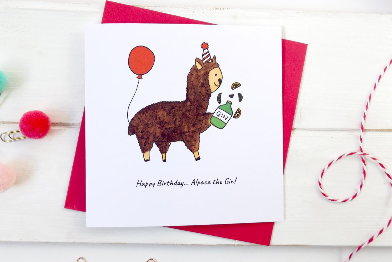 Fond Company gin birthday card
