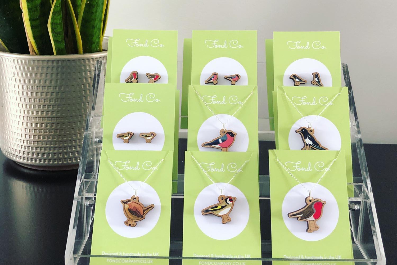 Fond Company bird necklaces