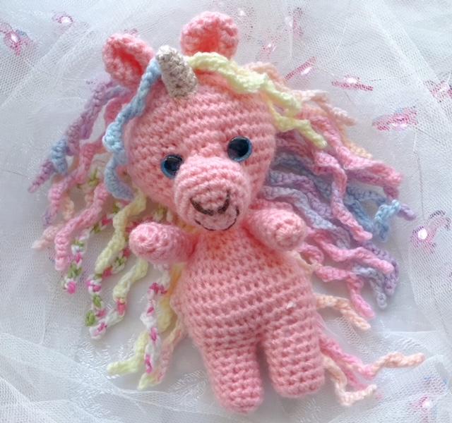 pink unicorn crochet