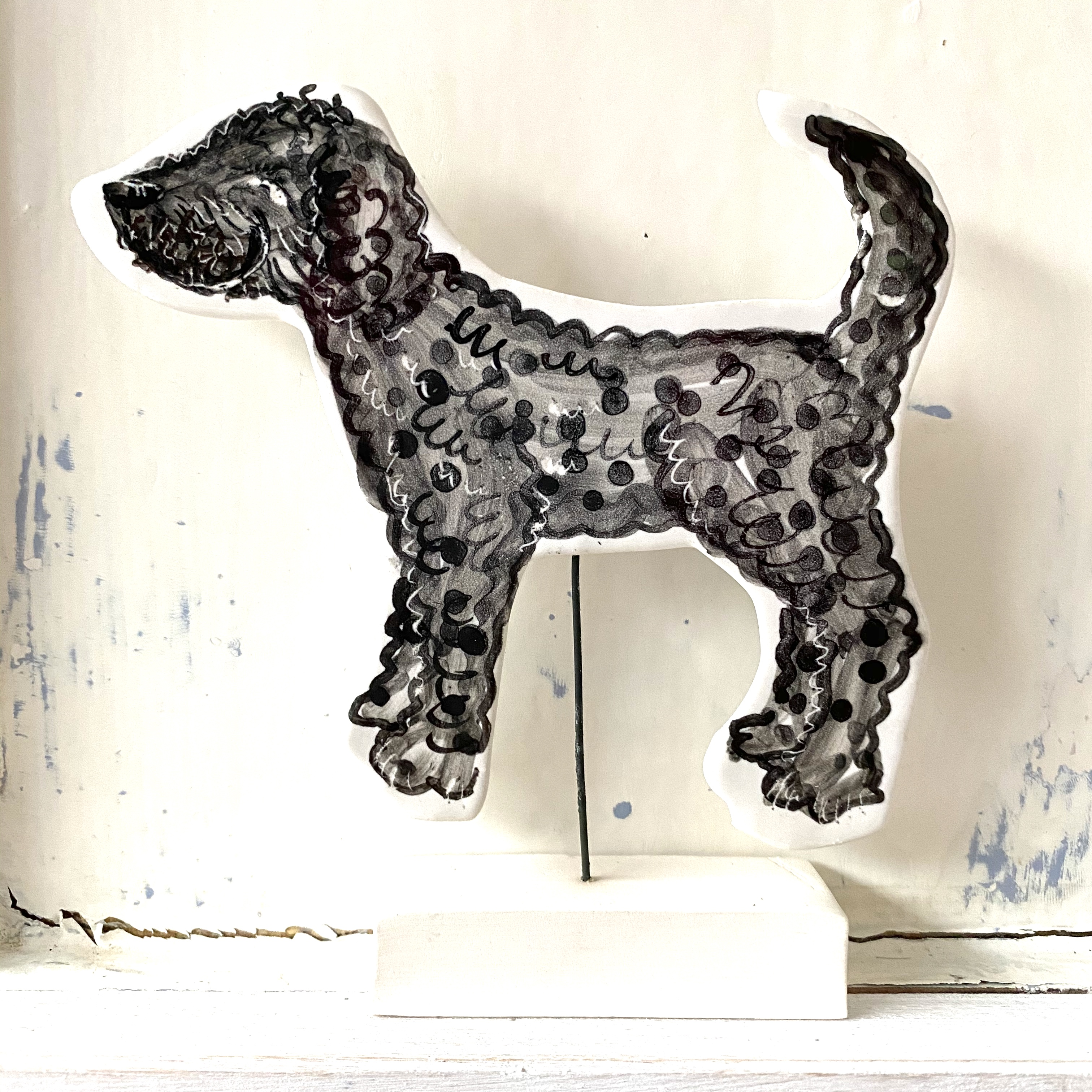 Louise Crookenden-Johnson dog ceramic